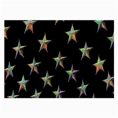 Colorful Gold Star Christmas Large Glasses Cloth (2 Side) by Mariart