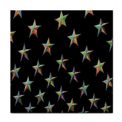 Colorful Gold Star Christmas Face Towel by Mariart