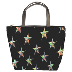 Colorful Gold Star Christmas Bucket Bags by Mariart