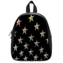 Colorful Gold Star Christmas School Bags (small)  by Mariart