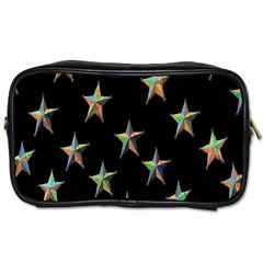 Colorful Gold Star Christmas Toiletries Bags 2 Side by Mariart