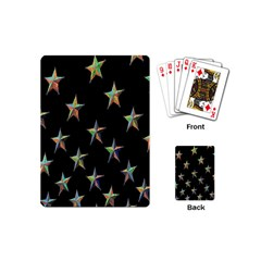 Colorful Gold Star Christmas Playing Cards (mini)  by Mariart