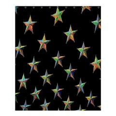 Colorful Gold Star Christmas Shower Curtain 60  X 72  (medium)  by Mariart