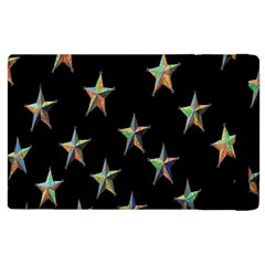 Colorful Gold Star Christmas Apple Ipad 2 Flip Case by Mariart