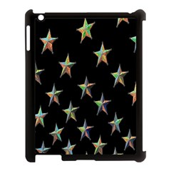 Colorful Gold Star Christmas Apple Ipad 3/4 Case (black) by Mariart