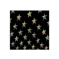 Colorful Gold Star Christmas Satin Bandana Scarf by Mariart