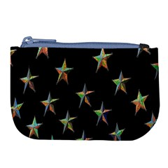 Colorful Gold Star Christmas Large Coin Purse