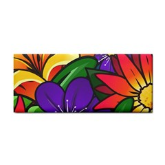 Bright Flowers Floral Sunflower Purple Orange Greeb Red Star Cosmetic Storage Cases by Mariart