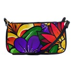 Bright Flowers Floral Sunflower Purple Orange Greeb Red Star Shoulder Clutch Bags Front