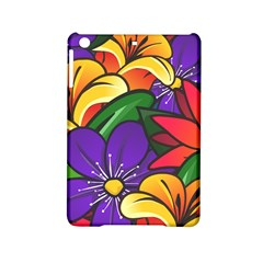 Bright Flowers Floral Sunflower Purple Orange Greeb Red Star Ipad Mini 2 Hardshell Cases by Mariart