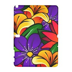 Bright Flowers Floral Sunflower Purple Orange Greeb Red Star Galaxy Note 1 by Mariart
