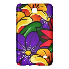 Bright Flowers Floral Sunflower Purple Orange Greeb Red Star Samsung Galaxy Tab 4 (8 ) Hardshell Case  by Mariart