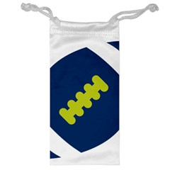 Football America Blue Green White Sport Jewelry Bag by Mariart