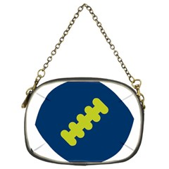 Football America Blue Green White Sport Chain Purses (two Sides)  by Mariart