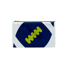 Football America Blue Green White Sport Cosmetic Bag (small)  by Mariart