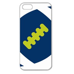 Football America Blue Green White Sport Apple Seamless Iphone 5 Case (clear) by Mariart