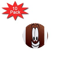 Happy Football Clipart Excellent Illustration Face 1  Mini Magnet (10 Pack)  by Mariart