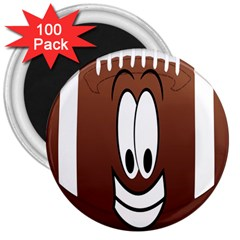 Happy Football Clipart Excellent Illustration Face 3  Magnets (100 Pack) by Mariart