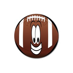 Happy Football Clipart Excellent Illustration Face Magnet 3  (round) by Mariart