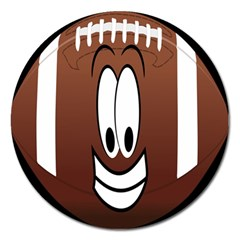 Happy Football Clipart Excellent Illustration Face Magnet 5  (round) by Mariart