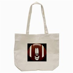 Happy Football Clipart Excellent Illustration Face Tote Bag (cream) by Mariart