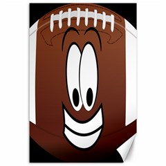 Happy Football Clipart Excellent Illustration Face Canvas 24  X 36  by Mariart