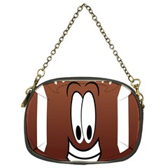 Happy Football Clipart Excellent Illustration Face Chain Purses (one Side)  by Mariart
