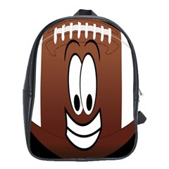 Happy Football Clipart Excellent Illustration Face School Bags(large)