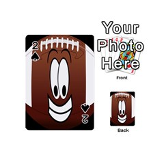 Happy Football Clipart Excellent Illustration Face Playing Cards 54 (mini)  by Mariart