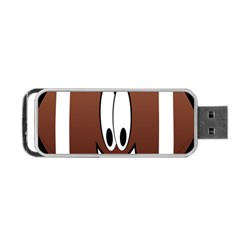 Happy Football Clipart Excellent Illustration Face Portable Usb Flash (one Side) by Mariart