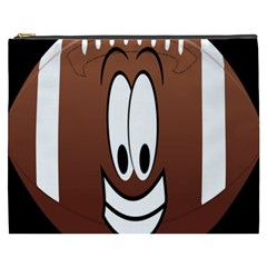 Happy Football Clipart Excellent Illustration Face Cosmetic Bag (xxxl)  by Mariart