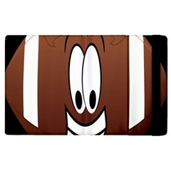 Happy Football Clipart Excellent Illustration Face Apple Ipad 2 Flip Case by Mariart