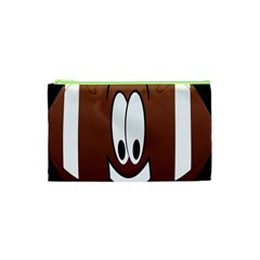 Happy Football Clipart Excellent Illustration Face Cosmetic Bag (xs) by Mariart