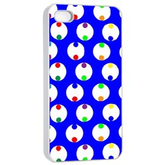 Easter Egg Fabric Circle Blue White Red Yellow Rainbow Apple Iphone 4/4s Seamless Case (white) by Mariart
