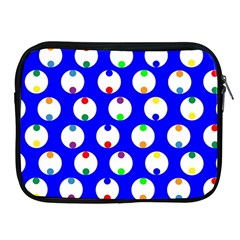 Easter Egg Fabric Circle Blue White Red Yellow Rainbow Apple Ipad 2/3/4 Zipper Cases by Mariart