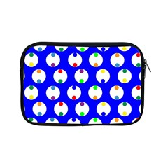 Easter Egg Fabric Circle Blue White Red Yellow Rainbow Apple Ipad Mini Zipper Cases by Mariart