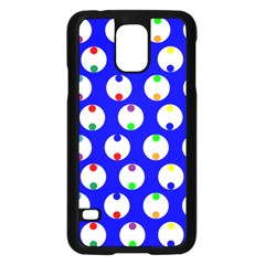 Easter Egg Fabric Circle Blue White Red Yellow Rainbow Samsung Galaxy S5 Case (black) by Mariart