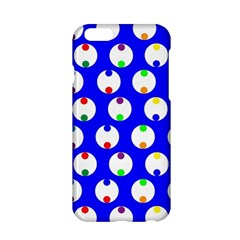 Easter Egg Fabric Circle Blue White Red Yellow Rainbow Apple Iphone 6/6s Hardshell Case by Mariart