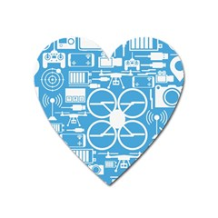 Drones Registration Equipment Game Circle Blue White Focus Heart Magnet by Mariart
