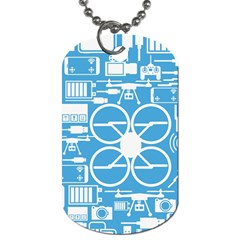 Drones Registration Equipment Game Circle Blue White Focus Dog Tag (one Side) by Mariart