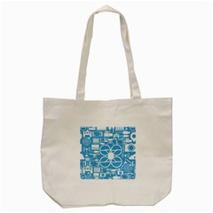 Drones Registration Equipment Game Circle Blue White Focus Tote Bag (cream) by Mariart