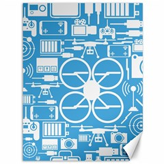 Drones Registration Equipment Game Circle Blue White Focus Canvas 36  X 48   by Mariart