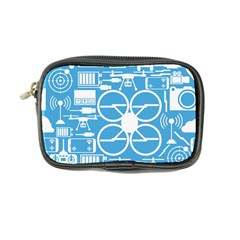 Drones Registration Equipment Game Circle Blue White Focus Coin Purse by Mariart