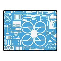 Drones Registration Equipment Game Circle Blue White Focus Fleece Blanket (small) by Mariart