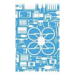 Drones Registration Equipment Game Circle Blue White Focus Shower Curtain 48  X 72  (small)  by Mariart
