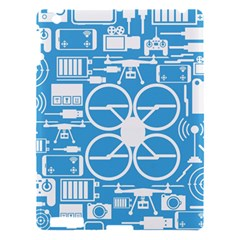 Drones Registration Equipment Game Circle Blue White Focus Apple Ipad 3/4 Hardshell Case by Mariart