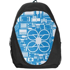 Drones Registration Equipment Game Circle Blue White Focus Backpack Bag by Mariart