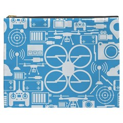 Drones Registration Equipment Game Circle Blue White Focus Cosmetic Bag (xxxl)  by Mariart