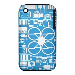 Drones Registration Equipment Game Circle Blue White Focus Iphone 3s/3gs by Mariart