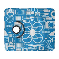 Drones Registration Equipment Game Circle Blue White Focus Galaxy S3 (flip/folio) by Mariart